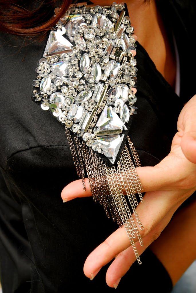 Nelle Creations :: DIY Fashion: Trend Alert - DIY Embellished Shoulder Blazer