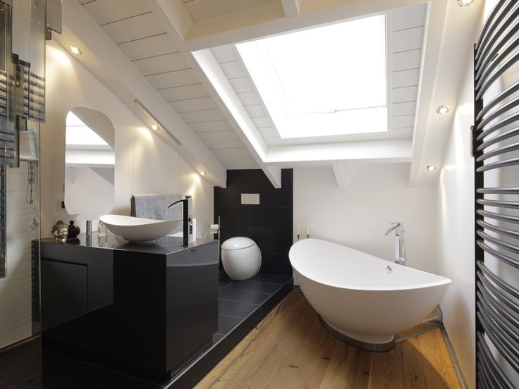 Badezimmer modern dachschräge  Die besten 25+ Loft badezimmer Ideen nur auf Pinterest ...