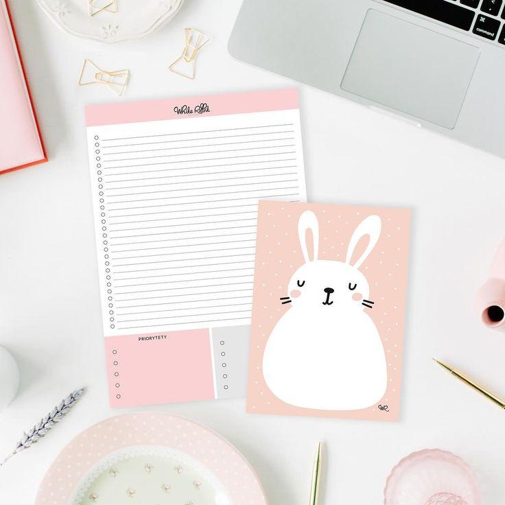 Lista zadań So Simple w towarzystwie naszego nowego słodkiego króliczego notesika formatu A6 dostępnego w przedsprzedaży do końca tygodnia :)   #cute #lovelly #pink #rabbit #planner #notes #instagood #stationery #stationerylover #love #sewet #polishgirl