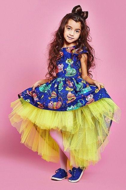 """Одежда для девочек, ручной работы. Ярмарка Мастеров - ручная работа. Купить Пышное платье для девочки """"Асимметрия"""". Handmade. Фиолетовый, платье"""