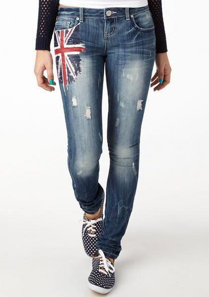 Union Jack Skinny Jean
