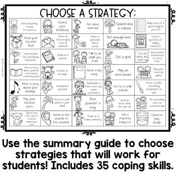 Coping Skills Color by Code: Calming Strategies Activity