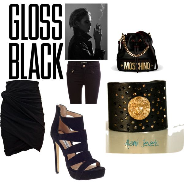 """""""Total Black"""" by angelica-lami on Polyvore"""