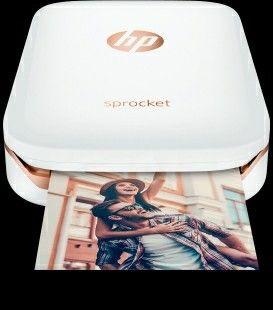 HP Sprocket Photo Portable Color Zink Photo Printer - Bluetooth - White