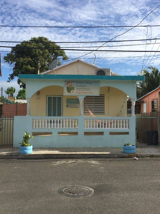 House in Guanica, Puerto Rico. Harbour House, (beach/cabin style, simple, basic, clean and safe) with ocean view (on the Malecon) above ground pool, jacuzi, deck, covered patio, stainless steel bar-b-q. 3 bedrooms/3 futons or daybeds.  Harbour House, (beach style, simple, basic...
