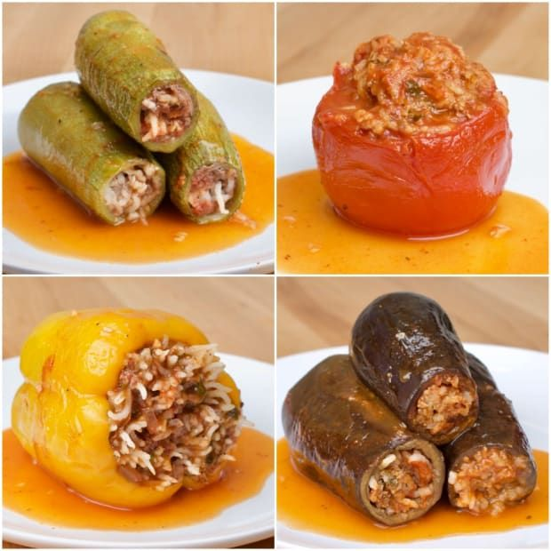 Middle Eastern Stuffed Vegetables 4 Ways Recipe Middle Eastern Recipes Stuffed Peppers Middle Eastern Dishes