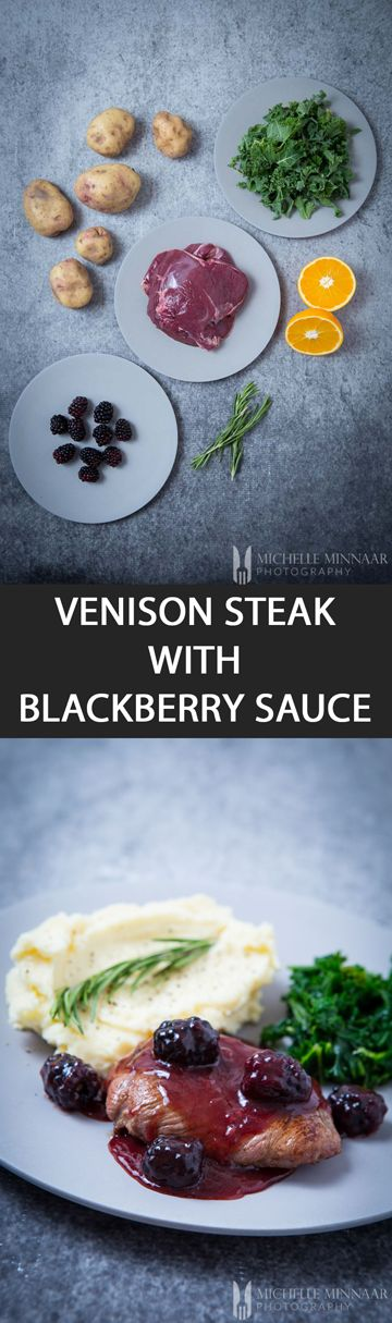 Venison Steak with Blackberry Sauce - {NEW RECIPE} Blackberry Sauce pairs really well with dark meats, especially venison steak. #BoxdFresh