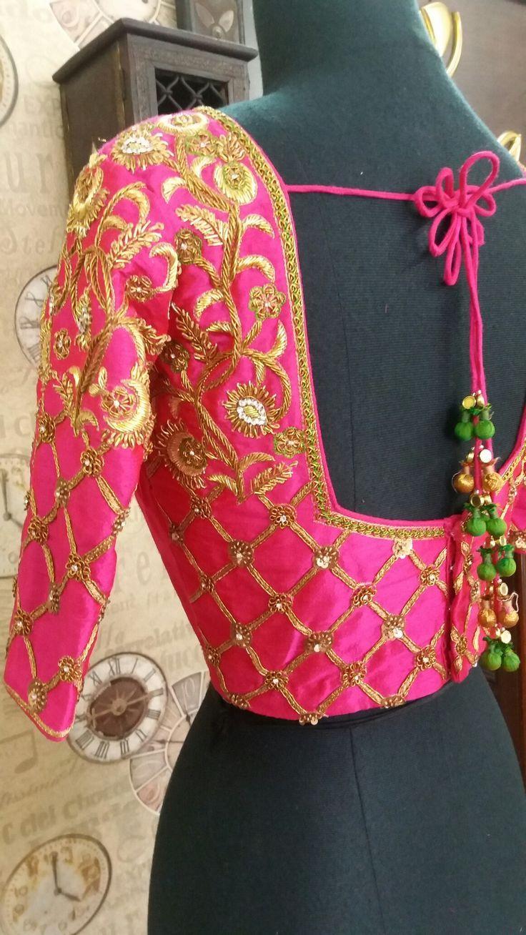 1139 best work blouse images on Pinterest | Blouse designs, Blouse ...