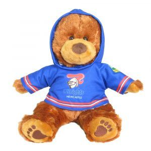 Knights Plush Toys Supporter t-shirts with hood printed with team colours and logos