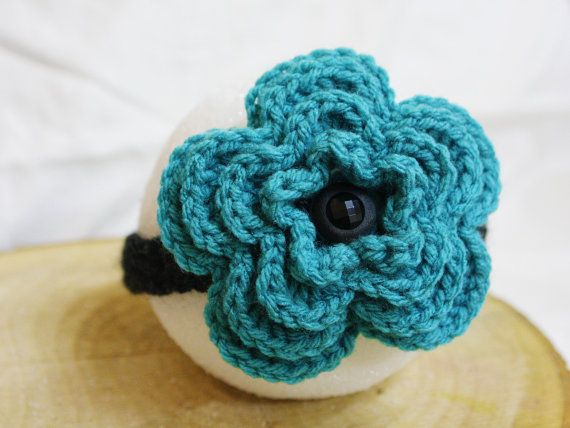 100 Acrylic Yam Crochet 5petal Flower Headband by AccCreations