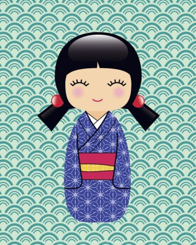 Kokeshi 2 Print at Art.com