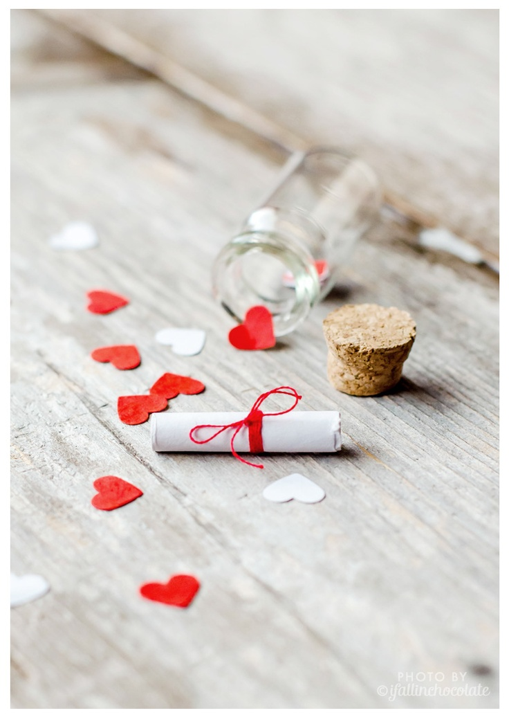 "DIY ""message in a bottle"" on my blog!  I Fall in Chocolate"