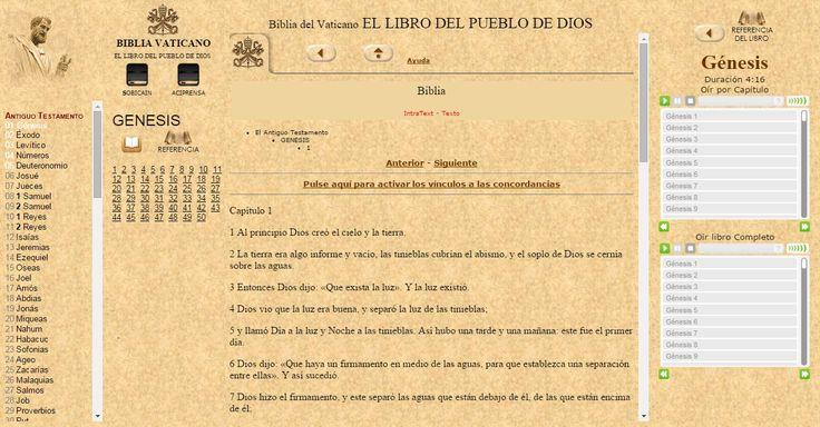 OÍR LA BIBLIA Católica ONLINE con EL Vaticano VaticanONLINE desde WWW.CATHOLIC.CF