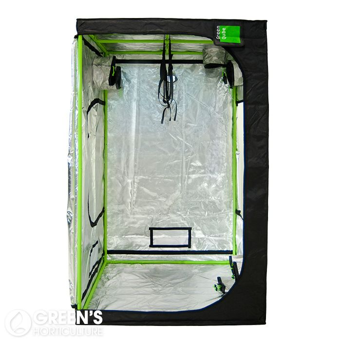 The Green-Qube GQ120 is a well-built, heavy duty tent that's packed full of useful features to simplify setting up a growing environment. Measuring 120cm x 120cm x 220cm, this mid-sized grow tent can be used with up to 1000W of light and can withstand a whopping 100kg of hanging weight due to its extremely sturdy design.