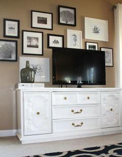 Decorate around the TV  interior-decorating-ideas
