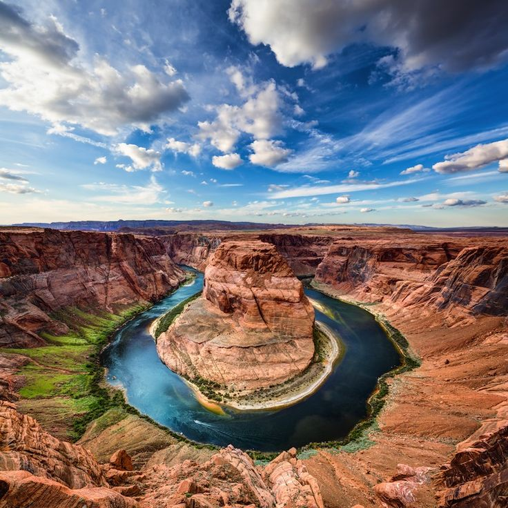 horseshoe bend: Drive north of the Grand Canyon towards Glen Canyon to find one of the most photographed stretches of the Colorado River.