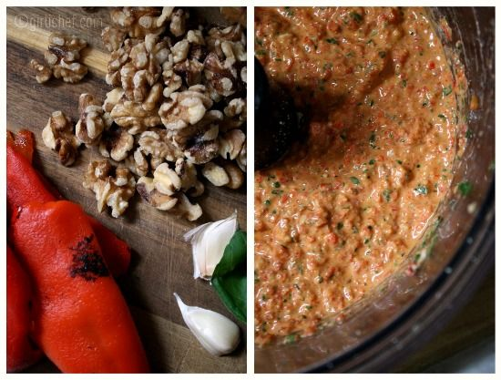 "girlichef: Roasted Red Pepper and Walnut ""Pesto"" {the Food Matters ..."