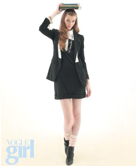luxezone119 :: [유행패션/여자스타일]프레피 룩을 연출한 모델 마샤 타이엘라 화보