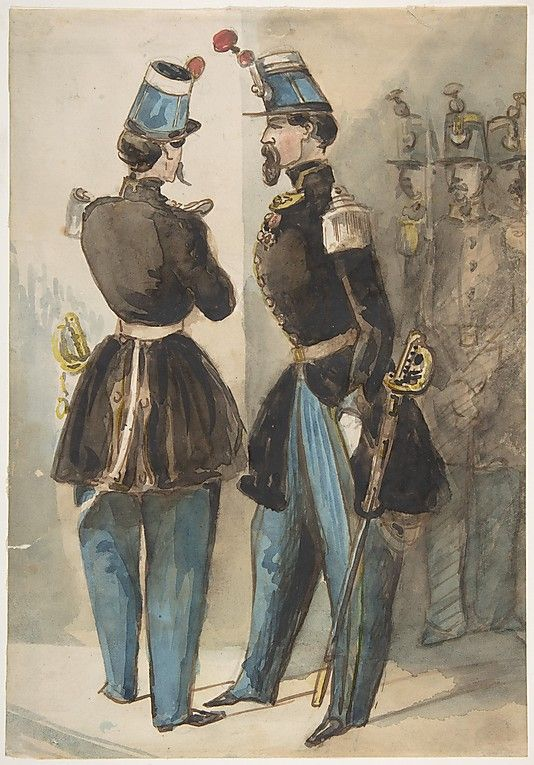 Constantin Guys -Officers of the Guard