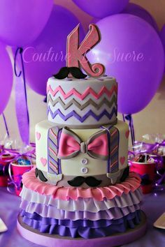 Mustache Birthday Cakes for Girls | Mustache cake