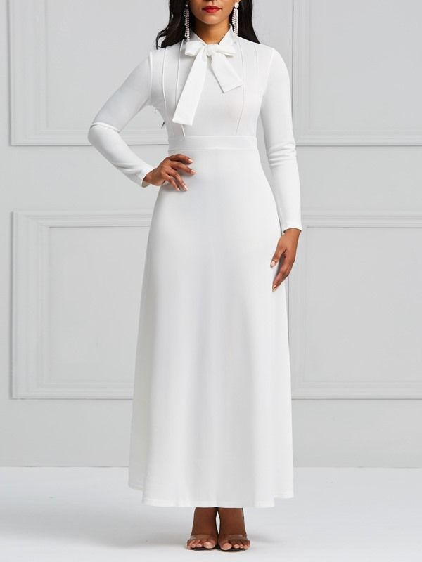 48+ Cheap white long sleeve dress ideas