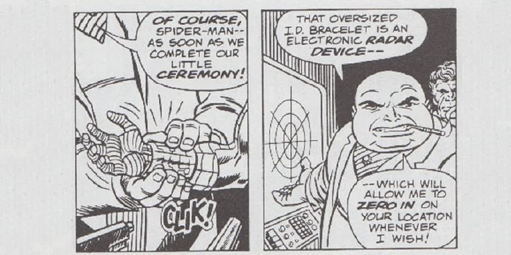 Un cómic strip de Spider-Man predijo la localización electrónica- - En un cómic strip de los 1940s, Kingpin utiliza un dispositivo con funciones parecidas al GPS y la localización electrónica, algo que hoy en día resulta bastante común.