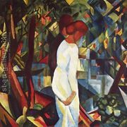 Couple In The Forest  by August Macke