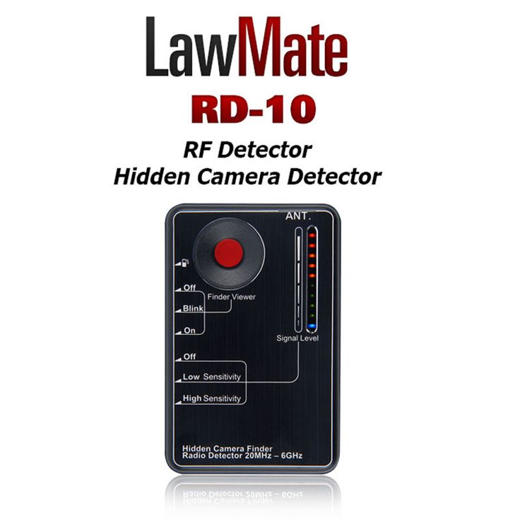 Lawmate RF&Hidden Camera Detector RD10 20MHz~6GHz Find Wired or Wireless Spy Cam #LawMate