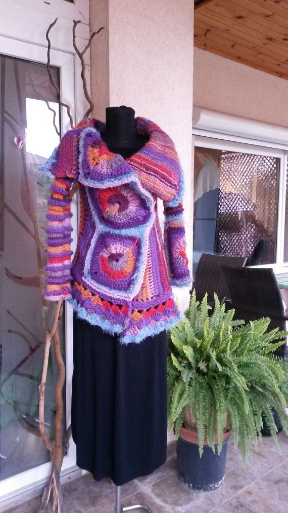 Handmade Jacket/Freeform Crochet by AnnesMagicCrochet on Etsy