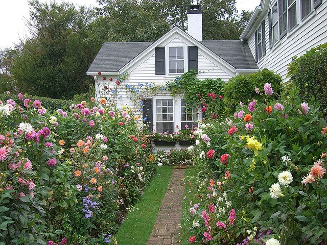 Emily Post's garden in Nantucket.