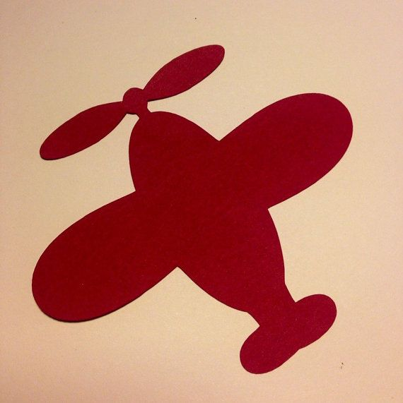 Airplanes Paper Die Cuts  - Tags - Labels - Party Decor  by MyCutieBows