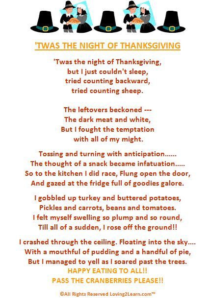 Thanksgiving Poems for Kids: Great Poems & Read Along Videos