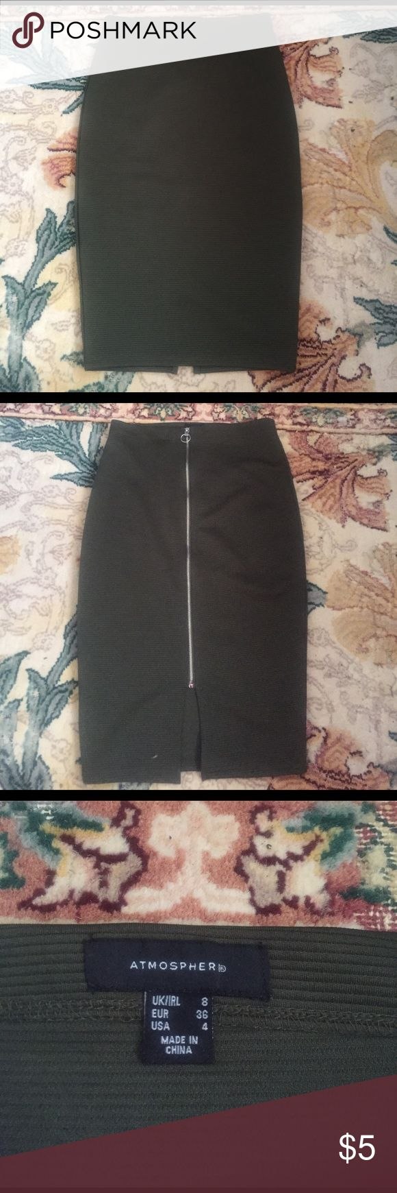 Olive Green Pencil Skirt Olive Green Pencil Skirt Primark Skirts Pencil