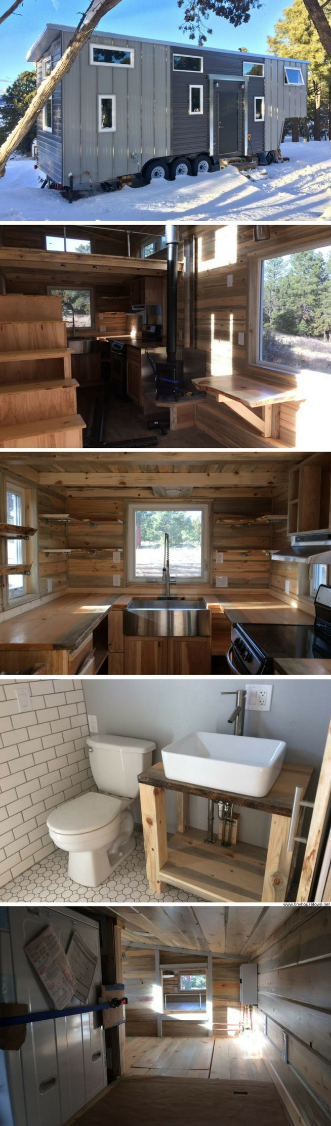 A cozy tiny house, built for clients from Flagstaff, by Rocky Mountain Tiny Houses