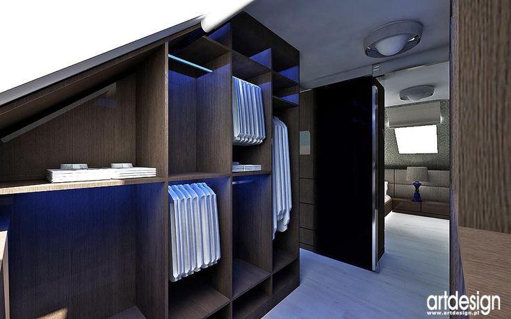 wnętrze garderoba z sypialnią projekty wnętrza