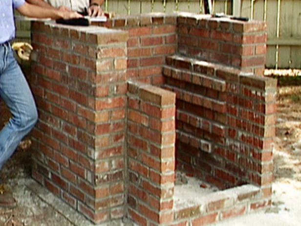 How to build a brick barbecue backyards built ins and