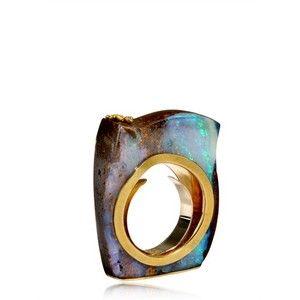 AQA Contemporary opal ring
