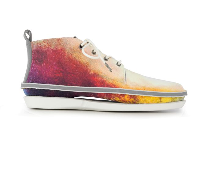Pretty colorful lace up shoes/ sneakers.   Standfor Smoke Less: Shoes with a Message
