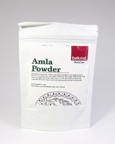 Amla Powder 60gms  1. It enhances hair color and stimulates hair growth 2. Helpful cure for dandruff and lice 3. Anti-aging properties - helps to strengthens and revitalize your skin 4. It lessens the appearances of skin blemishes and fine lines