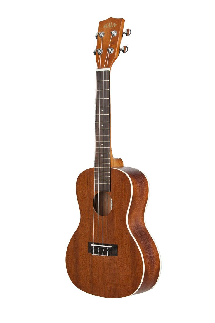 """The Kala Satin Mahogany Series Ukulele offer a full-bodied tone with plenty of """"Sweet Highs"""" and """"Mellow Lows"""" that combine for a full rich sound. Traditional white binding on the top and the back acc"""