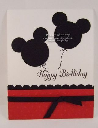love the punch art mickey earsPunch Art Cards, Mickey Mouse Cards, Mickey Mouse Birthday, Punch Art Mickey Mouse, Mickey Ears, Birthday Cards, 1St Birthday, Mickey Cards, Mickey Mouse Ears