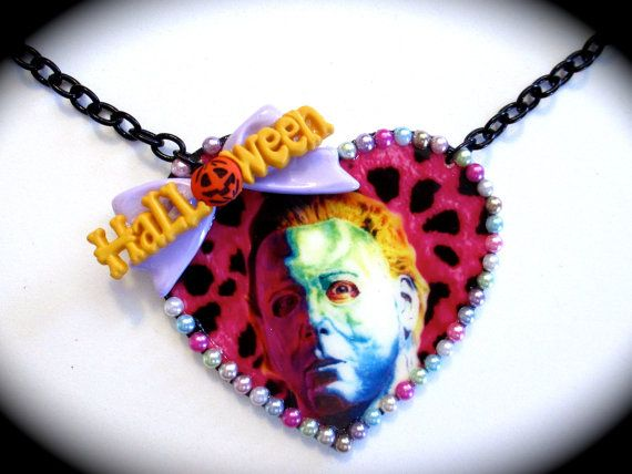 Halloween Michael Myers Heart Shaped Necklace - He's sexy!
