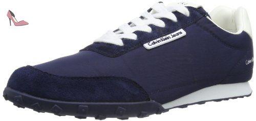 Calvin Klein Jeans Nash, Baskets mode homme, Bleu (Nwh), 46 - Chaussures calvin klein jeans (*Partner-Link)