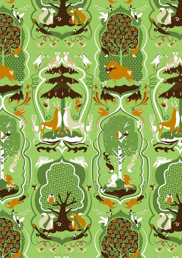 Katarzyna Bogucka - Animals in Forest