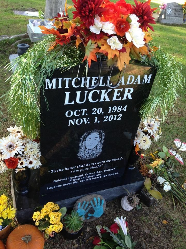 This poor man died in a motorcycle accident on November 1st at only age 28! and he was from a band called suicide Silence ..... He was A father,husband,brother, and son and friend. In memory for Mitch stomp everywhere all day on November 1st ( when he sang he'd stomp ) R.I.P Mitch <3 you'll be forever in our hearts