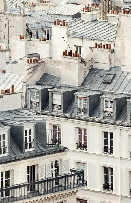 Paris Photography, Large Wall Art Print, Paris Rooftops, Paris Decor…