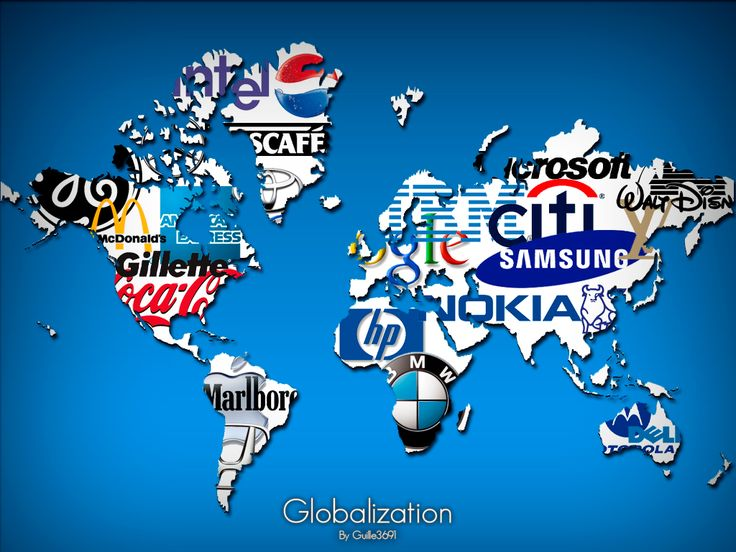 I Like This Idea To Visually Show Globalization It Has MNC Companies
