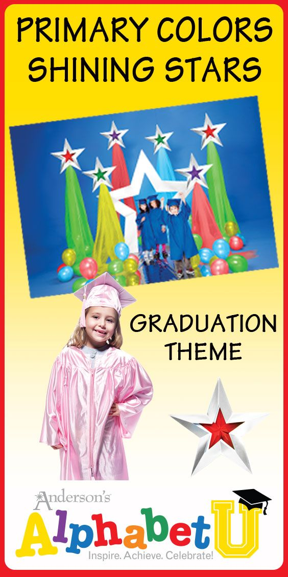 Shining Stars Graduation Theme - Preschool and Kindergarten