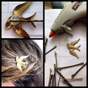 Turn any charms you have lying around into statement hair pieces. | 31 Pretty Hair Accessories You Can Actually Make