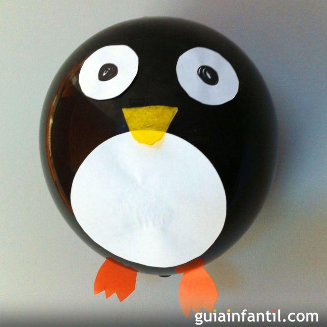 Cómo hacer un pingüino con un globo